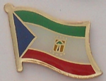 Equatorial Guinea Country Flag Enamel Pin Badge